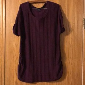 Apt 9 Purple Short Sleeved Sweater, 2X